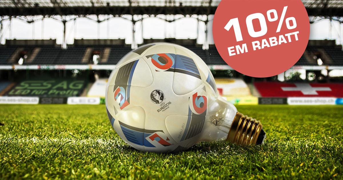 Fussball EURO 2016 Paris - Rabatt im SES LED Online Store