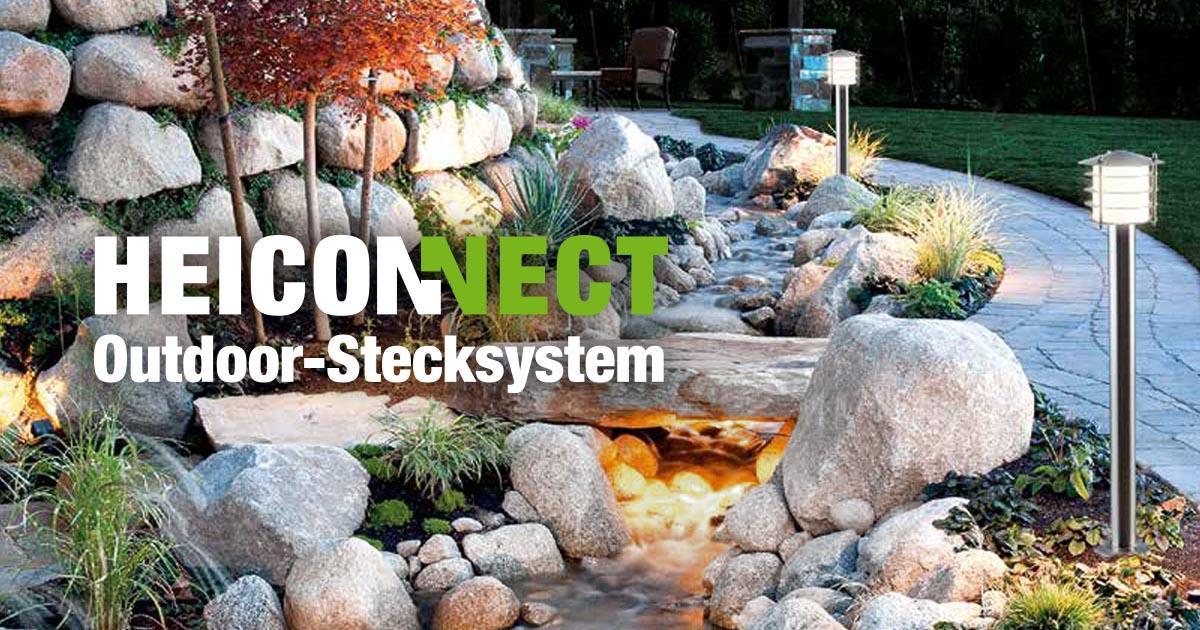Heiconnect Stecksystem Gartenbeleuchtung