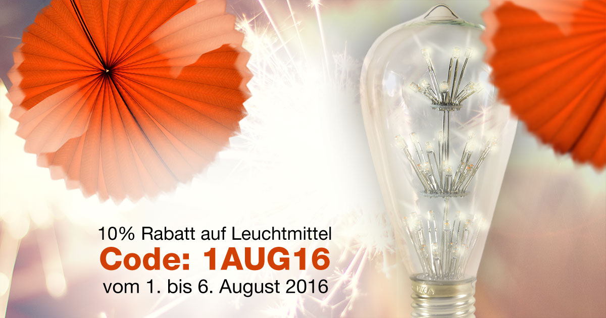 LED Rabatt Nationalfeiertag